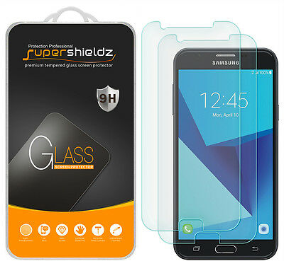 2X Supershieldz Samsung Galaxy J7 Prime Tempered Looking-glass Screen Protector Saver