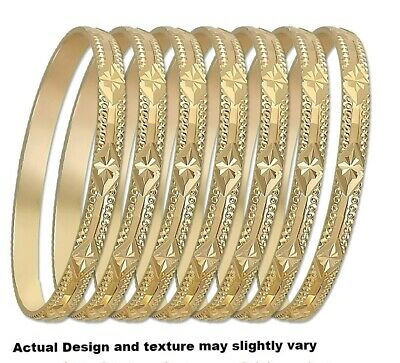 Gold Stackable Bangle - 7 Days Stackable Mexican Semanario Set Bangle Yellow Gold Layered Bracelet 6mm