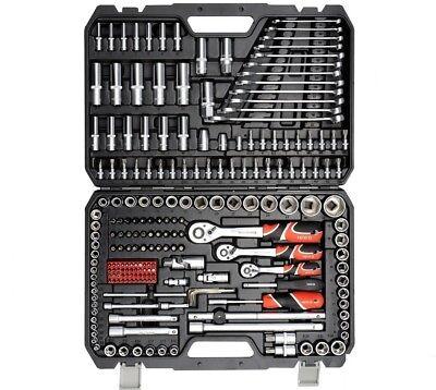Yato Werkzeugkoffer Set 216tlg Ratschen Steckschlüssel Langnüsse XXL (Werkzeug-set Ratsche)