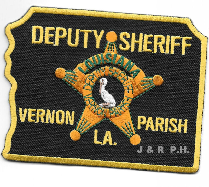 "Vernon Parish  Deputy Sheriff, LA  (4"" x 3"") shoulder police patch (fire)"