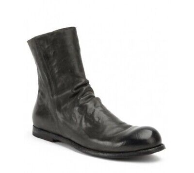 Officine Creative Authrucite Grey Horse Leather Ankle Boots Size 8 / EU 41