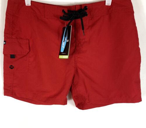 Tesla Rashguard Womens Board Shorts Swimwear UPF 50 Red sz L