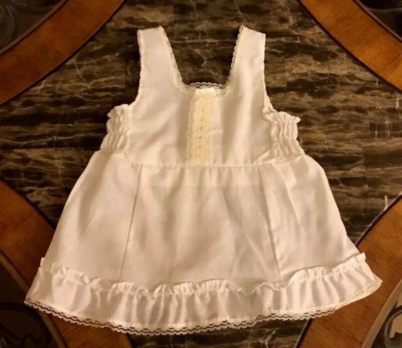 Vintage Full Slip Baby Girl White Lace Ruffles Dressy 1980s 24 Months Size 2T