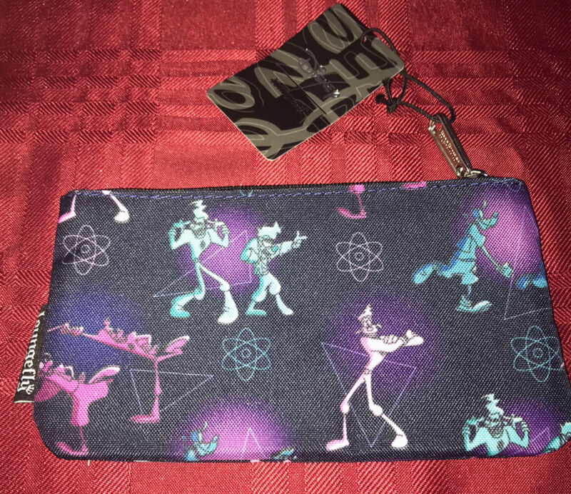 Loungefly Disney The Goofy Movie Powerline Zip Pouch Cosmetic/Coin Bag New