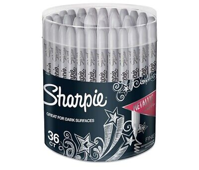 Sharpie Metallic Permanent Markers Fine Point Silver 36pack 9597 61659
