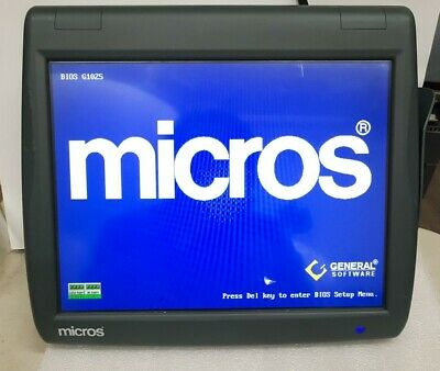 - Micros Workstation 5 Pos System Touch Unit 400814-001 No Cf Card No Stand