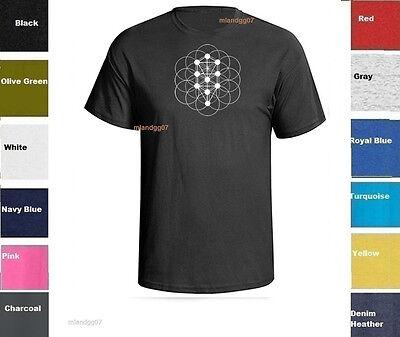 Sacred Geometry  Kabbalah Tree of Life T-Shirt  Shirt SIZE -