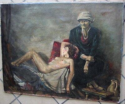 Antikes Ölgemälde nackte Frau 1900 - 1949