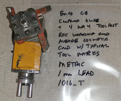 Emco Compact 8 Lathe Metric Compound Slide 1016t