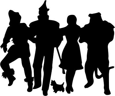 Wizard of Oz vinyl decal sticker Dorty Toto Tinman Lion Scarecrow - Tinman Wizard Of Oz