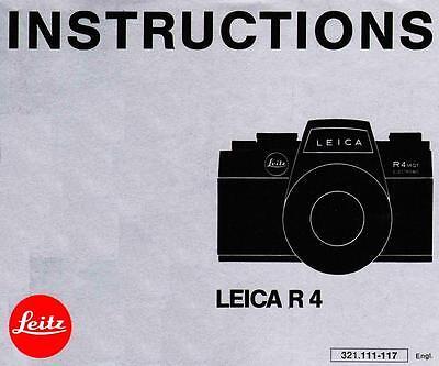 Инструкции и руководства LEICA R4 SLR