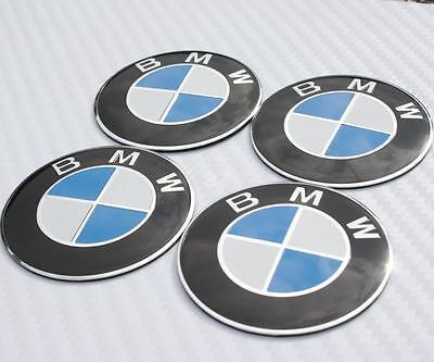 56mm BMW Steering Wheel Center Hub Caps Emblem Badge Decal Symbol Sticker Chrome