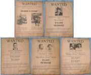 Bonnie Clyde Wanted Poster