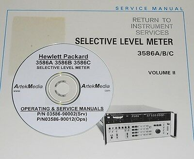 Hp Ops Service Manual 3-vol. Set For 3586a 3586b 3586c Selective Level Meter