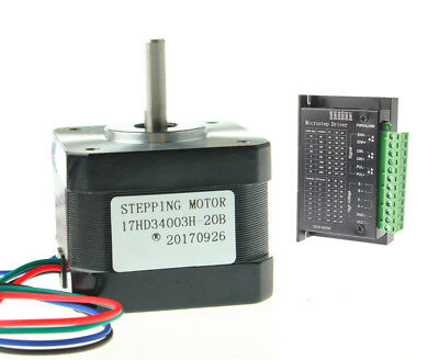 Nema 17 Stepper Motor 37oz.in 12v 0.4a W Driver Tb6600 Kit