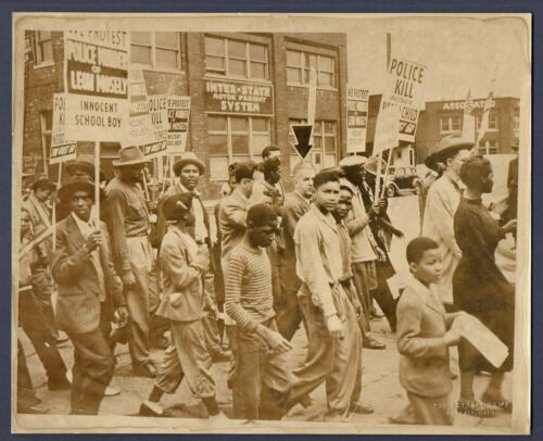 PROTEST MARCH Black Youth killed by Detroit Police FUNERAL PROCESSION 1948 Photo