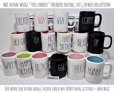 "RAE DUNN ""YOU CHOOSE"" MUGS LL Colored/Set/Seasonal *SAVE ON SHIPPING* NEW HTF 19"
