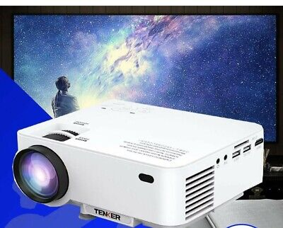 TENKER LCD Mini Projector for TV Laptop iPhone Andriod Portable Home Theater