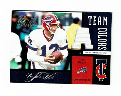2001 Donruss Classics Team Colors Jim Kelly Jersey #94/150 Buffalo Bills Rare!