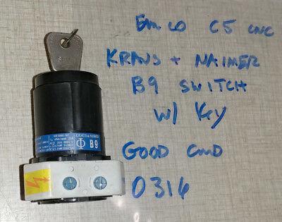 Emco F1 Cnc Mill Compact 5 Lathe Kraus Naimer B9 Key Switch 0316