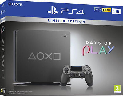 Sony PlayStation 4 1TB Days Of Play Limited Edition Console Black PS4 * SEALED *