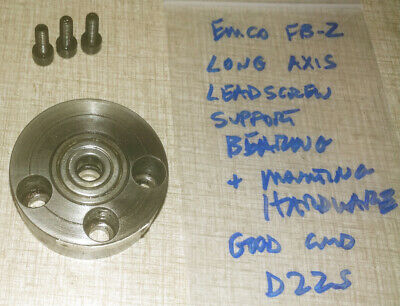 Emco Maximat Fb-2 Mill Parts X Long Axis Bearing Bracket D22s