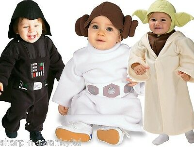 cute baby girls boys star wars yoda darth vader leia fancy dress costume outfit ebay. Black Bedroom Furniture Sets. Home Design Ideas