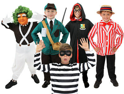 BOYS SCHOOL BOOK WEEK FANCY DRESS COSTUME CHOOSE STYLE CHILD'S WORLD BOOK (World Book Week Kostüm)