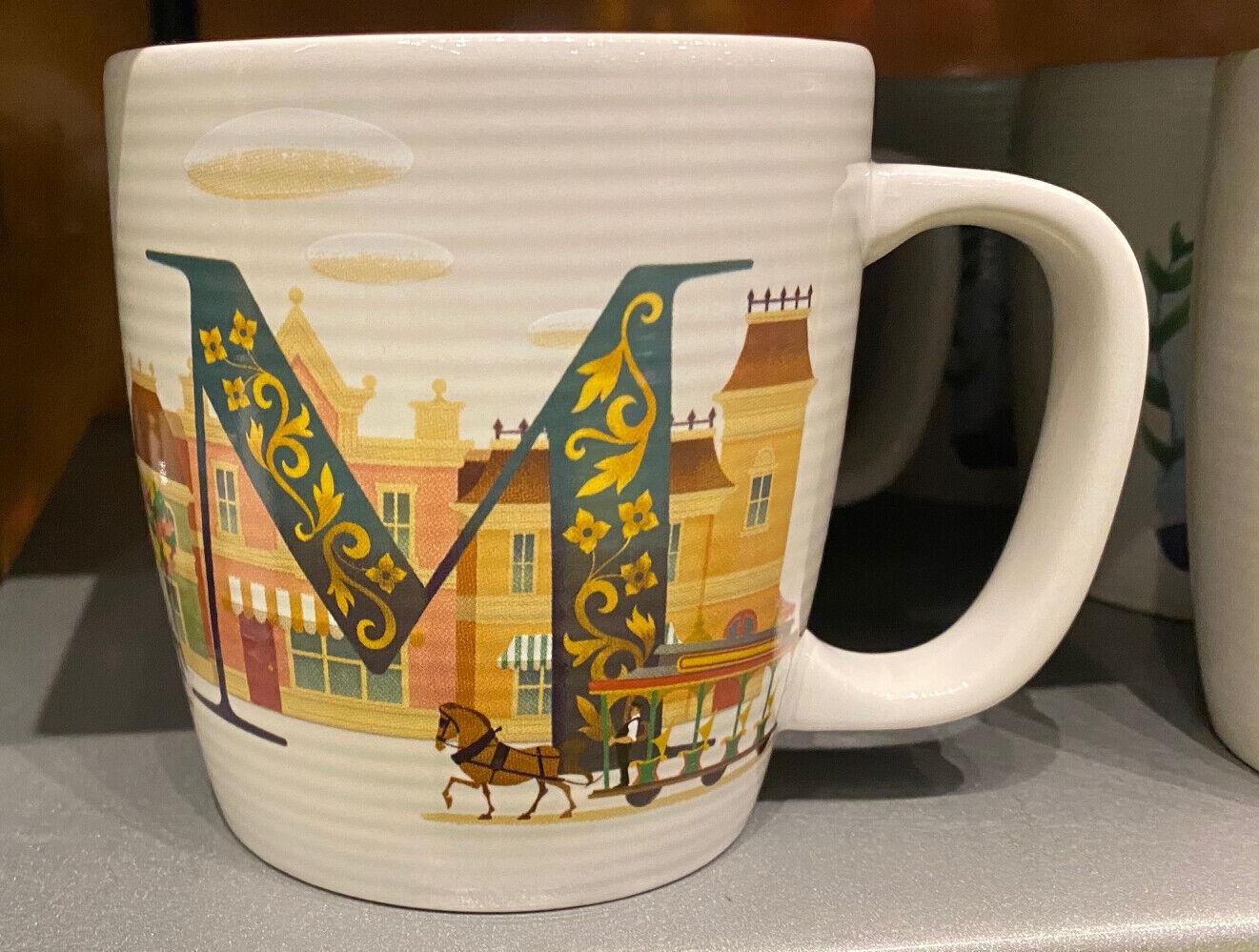 Disney Parks M is for Main Street  ABC Ceramic Mug  NEW