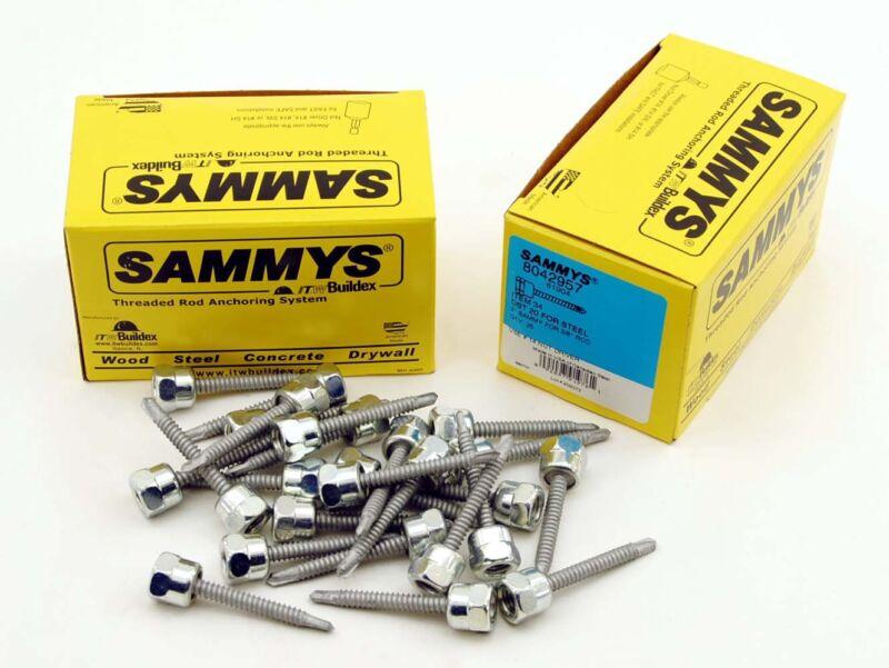 (25) Sammys 3/8-16 x 2 Threaded Rod Hanger for Steel 8042957 Self-Drilling