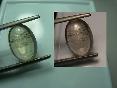 very rare 5.8ct Cats Eye Diaspore gem Cab Color Change gemstone Bafa Lake Turkey