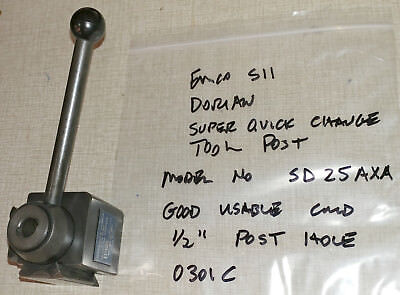 Emco Maximat Super 11 Lathe Dorian Axa Quick Change Toolpost No. Sd25axa 0301c