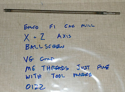 Emco F1 Cnc Mill X Z Axis Ball Screw Ballscrew 0122