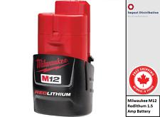 Milwaukee M12™ 48-11-2401 REDLITHIUM™ Pack 1.5 Ah 12V Rechargable Battery