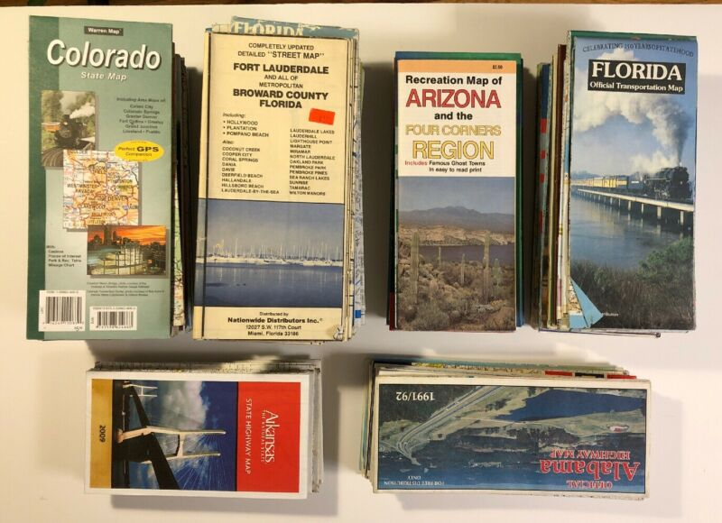 MAPS US Road Maps 108 maps lot state county city metropolitan area oil co box 1