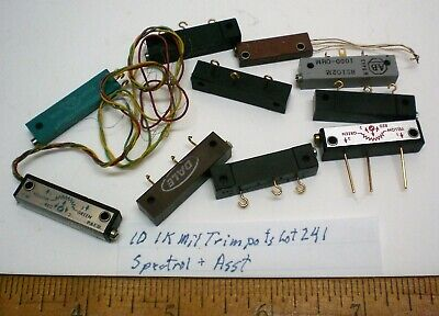 10 Trim Pots Military 1k Assorted Spectrol Others Lot 241 Made In Usa