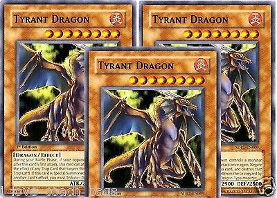 Tyrant Dragon 1ST X 3 Structure Deck: Rise of the Dragon Lords  SDRL-EN009 Dragon Lords Structure Deck