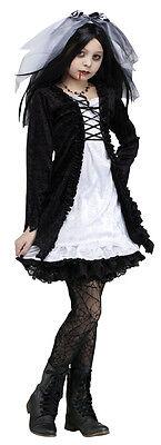 Vampir Puppe Kostüm (Mädchen Vampir Braut Viktorianisch Puppe Halloween Kostüm Kostüm Neue 6-10)