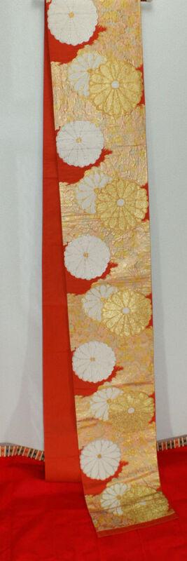 """Obi for kimonos of the full dress of Japan) """"Chrysanthemum pattern"""" 100% silk"""