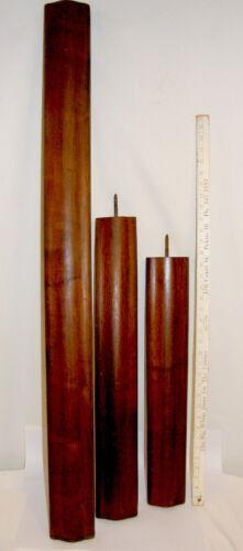 "Antique Walnut Stair Railing (3) pcs 45.5"" / 27.25"" / 23.375"""