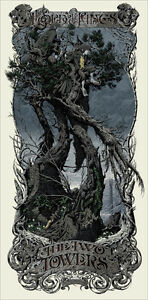 Aaron Horkey Two Towers Lord of the rings LOTR Regular  Print poster Mondo