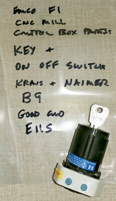 Emco F1 Cnc Mill Control Box Parts B9 Key Switch E11s