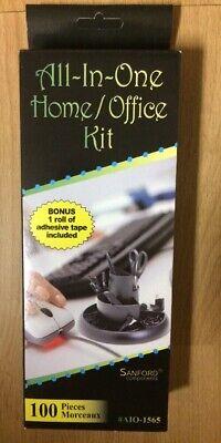 Office Kit Lot Scissor Staple Remover Razor Letter Opener Push Pins Clips Tape