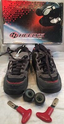 HEELY'S KIDS SNEAKERS IN BLACK & GRAY YOUTH SZ 5M US/4UK Style #7106