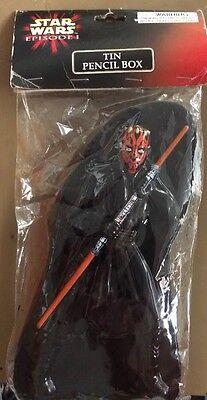 Star Wars Episode I Tin Pencil Box Darth Maul