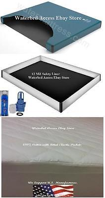 Best California King Waterbed Mattress with 12 Mil Liner  Cotton Pad & Fill