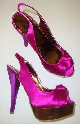 COLIN STUART 281976-665 Damen Pumps / Peep Toe / High Heels pink 40,5 NEU Stuart Peep Toe