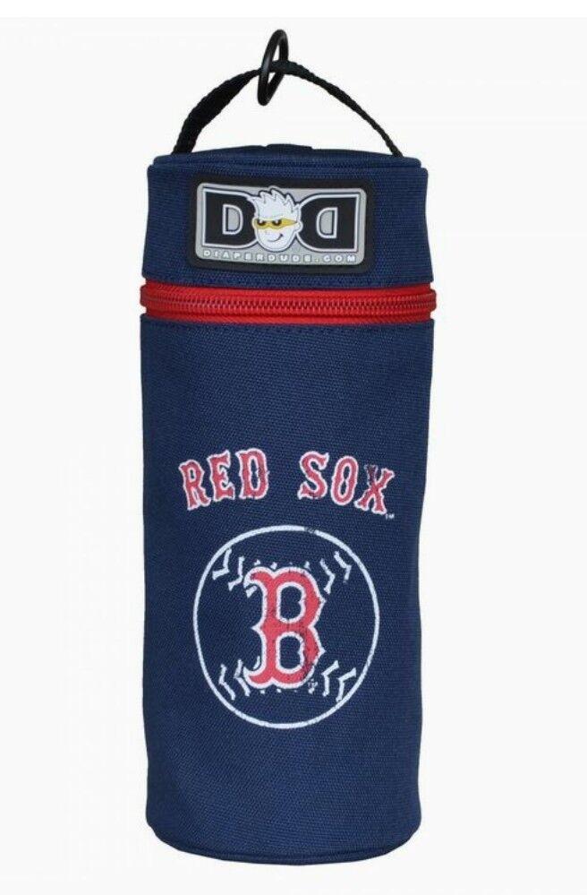NEW Diaper Dude Boston Red Sox Baby Bottle Holder Navy Blue