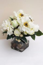 PEONIES AND CRAB APPLE