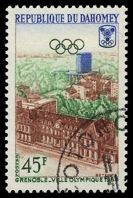 "DAHOMEY 242 (Mi326) - Grenoble Winter Olympics ""View of Grenoble"" (pf74342)"